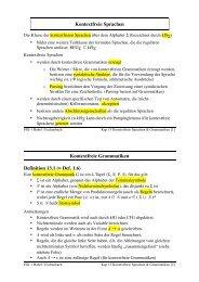 Kontextfreie Sprachen Kontextfreie Grammatiken Definition 13.1 ...