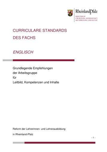 curriculare standards des fachs englisch - Ministerium für Bildung ...