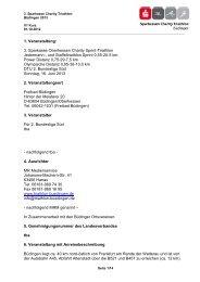 Ausschreibung 2013 verfügbar! - Triathlon Büdingen