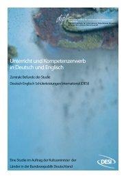 Unterricht und Kompetenzerwerb in Englisch - Deutsches Institut für ...