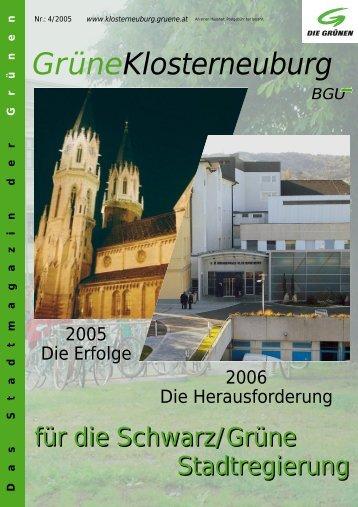 Winter 2005 - Die Klosterneuburger Grünen