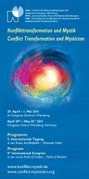 Download Programm - Konflikttransformation und Mystik