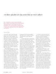 «In Bern glaubte ich das erste Mal an mich selbst» - Universität Bern