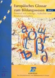 Europäisches Glossar zum Bildungswesen - EACEA - Europa
