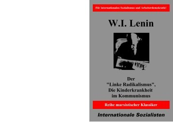 "WI Lenin Der ""Linke Radikalismus"" - Internationale Sozialisten"