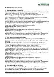 Fachkurzinformation Apomedica Produkte (alle Marken)