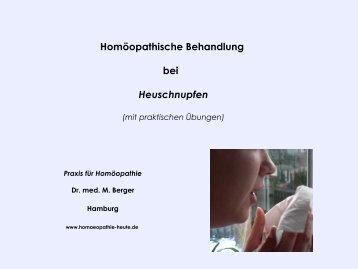 Homöopathische Behandlung bei Heuschnupfen - Homoeopathie ...