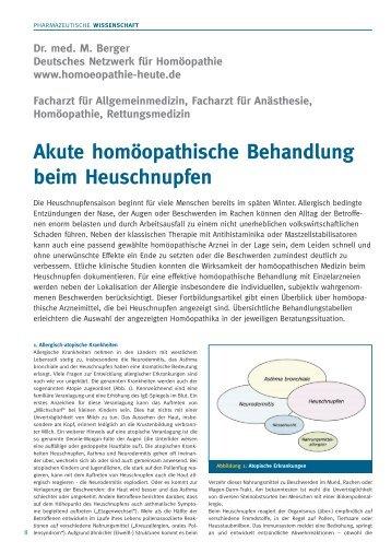 Akute homöopathische Behandlung beim Heuschnupfen