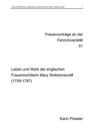 Heft 51 - FernUniversität in Hagen