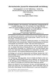 die hochschule. journal für wissenschaft und ... - Peer Pasternack