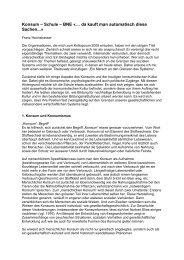 Konsum – Schule – BNE «… - Stiftung Bildung und Entwicklung