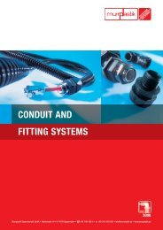 Murrflex cable protection conduit and fitting systems