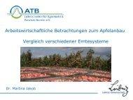 Arbeitswirtschaftliche Betrachtungen zum Apfel - Landwirtschaft in ...
