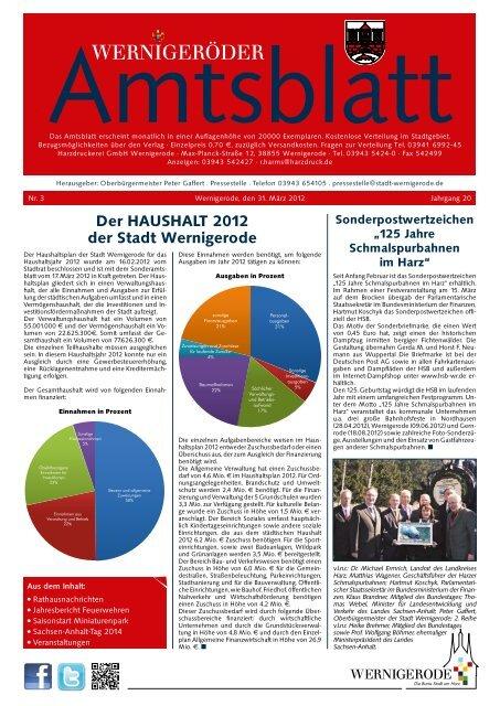 Amtsblatt Stadt Wernigerode 03 - 2012 (5.88 MB)