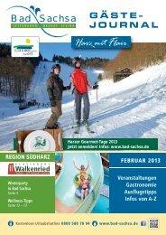 Gästejournal Feburar 2013 (PDF) - Bad Sachsa