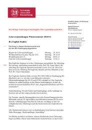 ENGLISCHES SEMINAR - Technische Universität Braunschweig