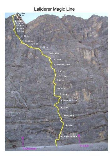 """Laliderer Nordwand - """"Magic Line"""" - Nordalpenklettern"""