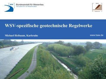 WSV -spezifische geotechnische Regelwerke