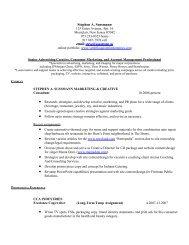 full resume in PDF - Steve Sussmann