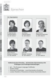 Sprachen - Volkshochschule Dresden