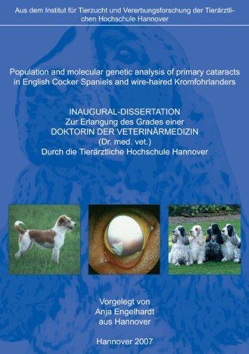 Aus dem Institut für Tierzucht und Vererbungsforschung - Stiftung ...
