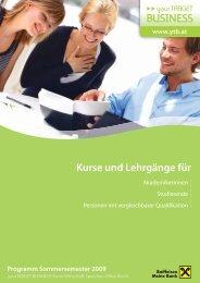 Kurse und Lehrgänge für - yourTarget Business