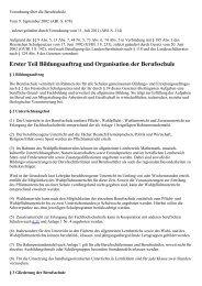 Verordnung über die Berufsschule - Kursnet