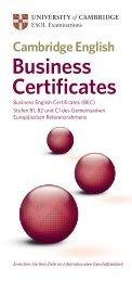 Business Certificates - Cambridge ESOL - Cambridge English