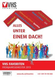 Frühjahrsprogramm 2013. - Verband Wiener Volksbildung