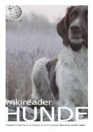 1 Entwurf Wikireader Hunde, aus Wikipedia, der freien Enzyklopädie ...