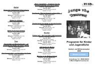 Programm für Kinder und Jugendliche