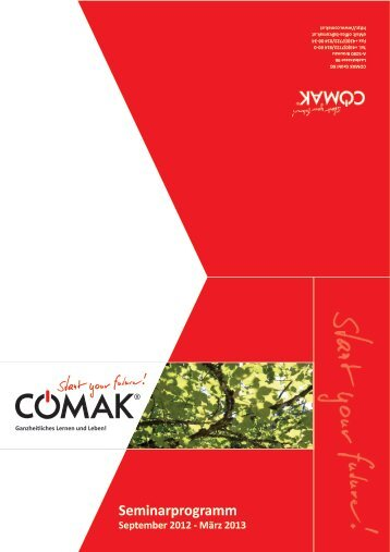 seminarkalender 2012/13! - Comak