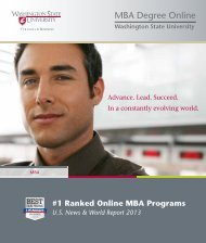 Download Your Brochure - Washington State University Online MBA ...
