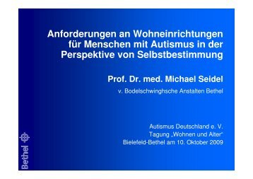 Prof. Dr. med. Michael Seidel - Autismus