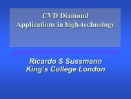 CVD Diamond: The Industrial Landscape - EFree