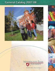 General Catalog 2007-08 - The Washington State University Catalog