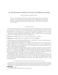 ON THE BONDAGE NUMBER OF PLANAR AND DIRECTED ...