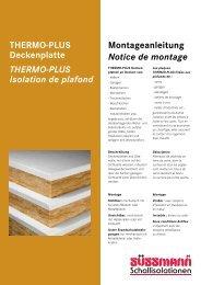 Thermoplus Montageanleitung - Süssmann AG