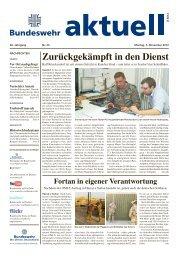 Zurückgekämpft in den Dienst - Bundeswehr