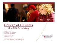 College of Business - Washington State University
