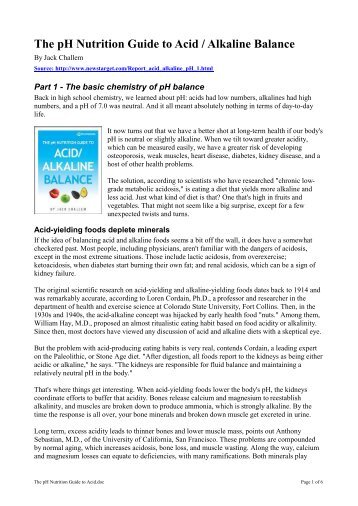 the acid alkaline food guide pdf
