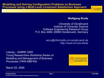 Wolfgang Runte - Institute of Computer Science