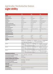 Agricube Abmessungen und Gewichte - Leiser AG