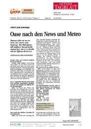 6. September Oltener Tagblatt - Tischlein deck dich