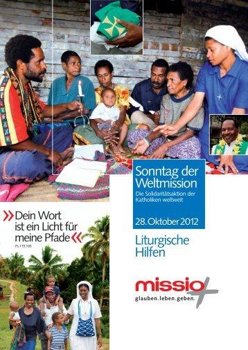 Liturgische Hilfen Sonntag der Weltmission