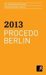 Jahresprogramm 2013 als PDF - PROCEDO BERLIN