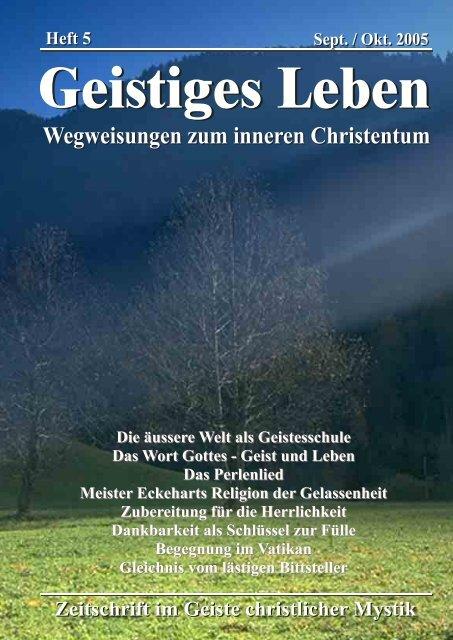 Die äussere Welt als Geistesschule Das Wort Gottes - Geist und ...