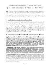 § 9. Das Handeln Gottes in der Welt - Theologie-Skripten