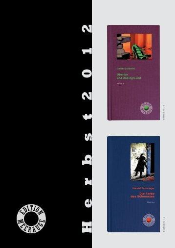 Edition Meerauge im Herbst 2012 – Die Programmvorschau zum
