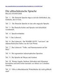 Die althochdeutsche Sprache - Die Lügen dieser Welt mit 33 Links ...